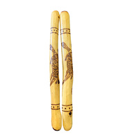 DKA Gidgee Music/Clapping Sticks - Lizard (Burnt)