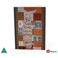 Munupi Recycled Giftcard/Env by Marie Simplicia Tipuamantumurri