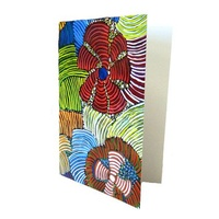 Utopia Aboriginal Dot Art Gift Greeting Card - Pencil Yam
