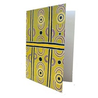 Utopia Aboriginal Dot Art Gift Greeting Card - Mulga Berries