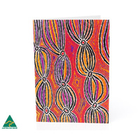 Warlukurlangu Aboriginal Art Giftcard - Dogwood Tree Dreaming