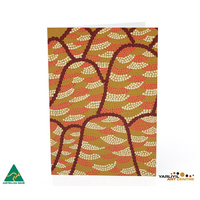 Yarliyil Aboriginal Art Recycled Giftcard/Env - Purnululu (Bungle Bungle Ranges)