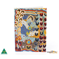 Yarliyil Aboriginal Art Recycled Giftcard/Env Two Sisters at Banana Springs