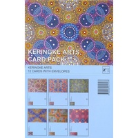 Keringke Aboriginal Dot Arts Giftcard Set (12) - Blue