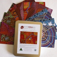 Better World Aboriginal Dot Art Postcard Set (12) - Tin Gift Box