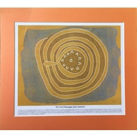 Dreamtime Kullilla-Art Ready-to-Frame oster Print - The Great Watersnake (Orange)