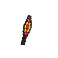 Aboriginal Threaded Bead Tie Wristband - 5 Diamond