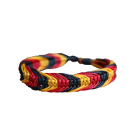 Aboriginal Wristband - 3 Colour Braided