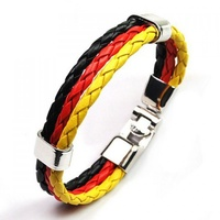 Aboriginal 3 Plait Leather Wristband