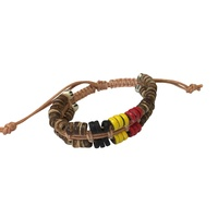 Aboriginal Double Row Adjustable Wristband
