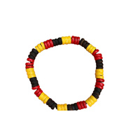 Aboriginal Stretch Wristband - Wood Beads 3 Colour