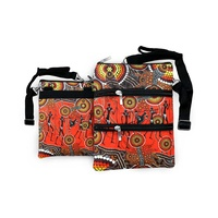 Bunabiri Aboriginal 3 Zip Shoulder Bag - Hunters & Gatherers Land