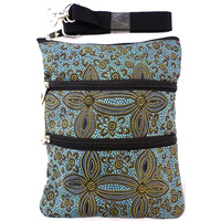 Yijan 3 Zip Canvas Shoulder Bag - Women's Ceremony on Yuendemu (Blue)