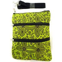 Yijan 3 Zip Canvas Shoulder Bag - Women's Ceremony on Yuendemu (Green)