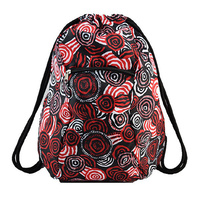 Jijaka Drawstring Backpack - Firestones (Red)