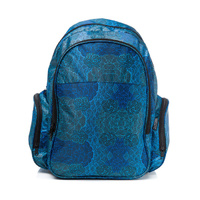 Warlukurlangu Aboriginal Art Backpack - Mina Mina Dreaming (Blue)