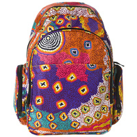 Warlukurlangu Backpack - Green Budgerigar Dreaming