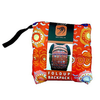 Jijaka Aboriginal Art Fold Up Backpack - Desert Sun