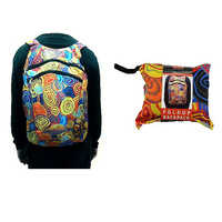 Jijaja Aboriginal Art Fold Up Backpack - Firestones