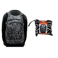 Yijan Aboriginal Art Fold Up Backpack - Women's Ceremonial Place
