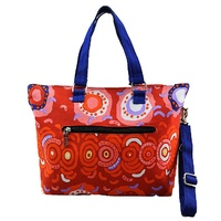 Balarinji Aboriginal Art Canvas Handbag - Desert Sun