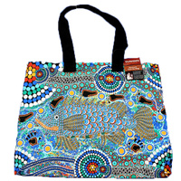 Bunabiri Aboriginal Canvas Bag - Barramundi