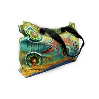 Bunabiri Aboriginal Canvas Bag - Crocodile Dreaming