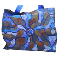Jijaka Aboriginal Dot Art Canvas Bag - Bush Dreamtime