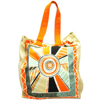 Jijaka Aboriginal Dot Art Canvas Bag - Centre Camp