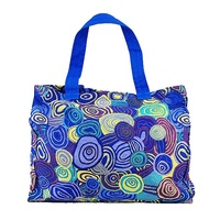 Jijaka Aboriginal Dot Art Canvas Bag - Firestones (Purple)
