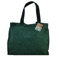 Yijan Aboriginal Dot Art Canvas Carry Bag - Women's Ceremonial Place (Green)