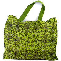 Yijan Aboriginal Art Canvas Carry Bag - Women's Ceremony on Yuelamu (Green)