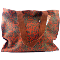 Yijan Aboriginal Art Canvas Bag - Women's Ceremony on Yuelamu (Red)