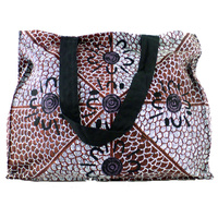 Yijan Aboriginal Art Canvas Bag - Women's Yalke Ceremony