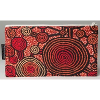 Warlukurlangu Aboriginal Art Cotton Zip Bag - Emu Dreaming