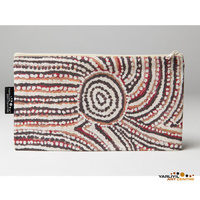 Yarliyil Aboriginal Art Cotton Zip Bag - Rockholes