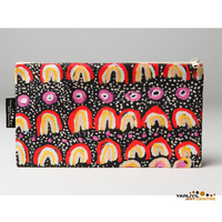 Yarliyil Aboriginal Art Cotton Zip Bag - Sand Dunes
