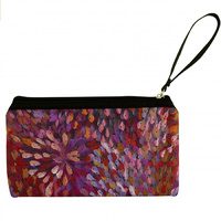 Utopia Aboriginal Art Neoprene Cosmetic Pouch - Firesparks (Purple)