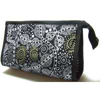 Warrina Toiletry/Cosmetic Bag - Bush Tucker Black