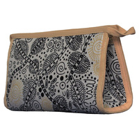Warrina Toiletry/Cosmetic Bag - Bush Tucker White