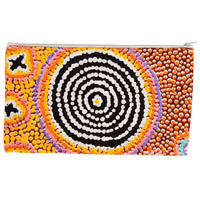 Warlukurlangu Cotton Zip Bag - Ruth Stewart