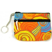 Jijaka Aboriginal Art 2 Zip Coin Purse - Firestones