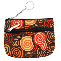 Jijaka 2 Zip Coin Purse - Riverstones (Orange)