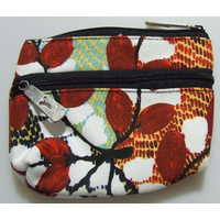 Yijan Aboriginal Art 2 Zip Keychain Coin Purse - Bush Cucumber