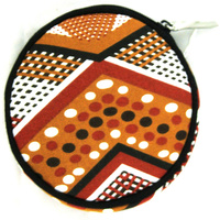 Jijaka Round Canvas Coin Purse - XHatch