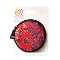 Warlukurlangu Neoprene Round Coin Purse - Fire Dreaming