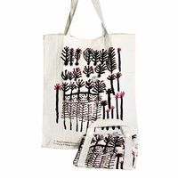 Better World Aboriginal Art Cotton Folding Shopping Bag - Kurlkura Trees
