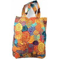 Jijaka Aboriginal Art Folding Bag - Firestones
