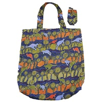 Jijaka Aboriginal Art Folding Bag - Kangaroo Journey