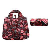 Jijaka Aboriginal Art Folding Bag - Riverstones Red